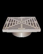 Josam 30000-S Floor Drain with Square Nikaloy Super-Flo® Strainer
