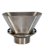 Josam 30000-ST-E3 Floor Drain with Round Strainer and Oval Funnel