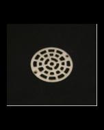 Cast Strainer with Sundial Pattern Strainer