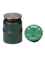 """Josam CO-100-A Leveleze II Cleanout with 5"""" Round Top, Internal Plug and Two-Stage Adjustment"""