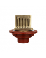 MIFAB F1100-C-AS Floor Drain with Adjustable Angle Strainer