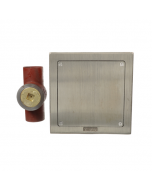 MIFAB C1460-S Cast Iron Stack Cleanout with Plug and Square Nickel Bronze Access Cover