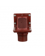 MIFAB R1300T Scupper Drain with Angle Grate and 90 Degree Outlet