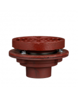 """MIFAB F1340-Y-Q Shallow Body Area Drain with 12"""" Round, Non Adjustable Heavy Duty Tractor Grate"""