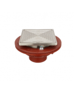 MIFAB F1100-C-SD Floor Drain with Square Solid Hinged Cover