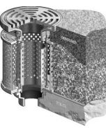 """MIFAB F1840 Planting Area Drain with 9"""" Adjustable Tractor Grate with Stainless Steel Ballast Guard"""