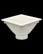 "Josam FS-940 Lite Line - 12"" x 12""  x 6"" PVC Floor Sink with PVC Grate"