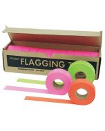 """1 3/16"""" Wide Flagging Tape - 150 Foot Roll (Case of 12)"""