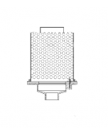 MIFAB R1100-28-G8H Green Roof Drain with Perforated Stainless Steel Ballast Guard and Removable Cover with Lift Handle