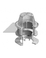 """MIFAB R1200-BUV Large Sump Roof Drain with 2"""" Through 4"""" Fixed Extension, Sump Receiver and Deck Clamp"""