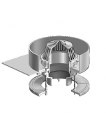 MIFAB R1200-RS Large Sump Roof Deck Condensate Reception Drain