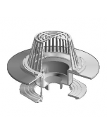 MIFAB R1200-Z Large Sump Dexotex Roof Drain with Wide Deck Flange for a Liquid Membrane Roof
