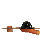 Thunderbird Copper Side Outlet Drain with Overflow