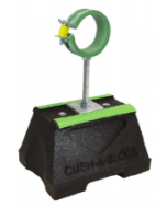 Cush-A-Block Mini Support with Raised SPP Cush-A-Ring Clamp for PEX, CPVC or PVC Pipe