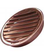 "Large Copper Round Soffit Vent with Screen (5"" to 8"")"