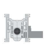 MIFAB MC-10-27-37 Horizontal Adjustable Water Closet Carrier with Auxillary 2'' Inlet & 37'' Long Barrel (For Siphon Jet and Blowout Toilets)