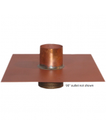 Thunderbird Copper Separate Overflow Drain with 90° Outlet