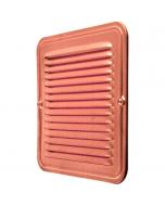 Copper Square Ventilation Grid with Screen