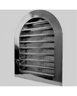 Stainless Steel Tombstone Louvered Gable Wall Vent